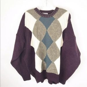 Tosani Mens Size XXL Vintage Crew Neck Sweater